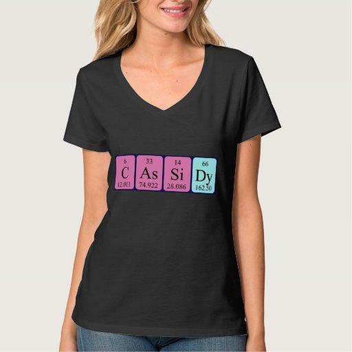 Camisa del nombre de la tabla periódica de Cassidy