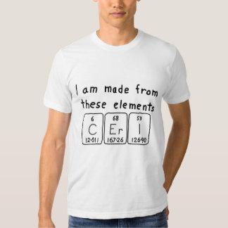 Camisa del nombre de la tabla periódica de Ceri
