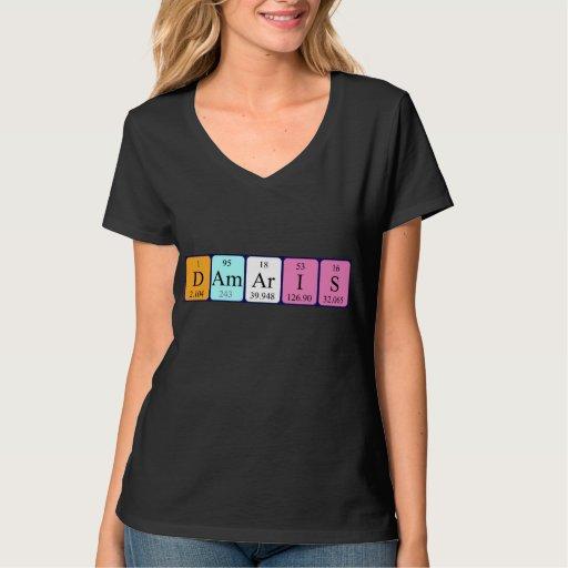 Camisa del nombre de la tabla periódica de Damaris