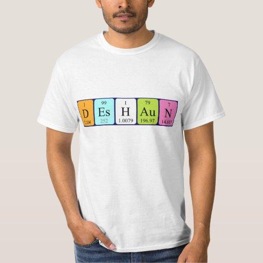 Camisa del nombre de la tabla periódica de Deshaun