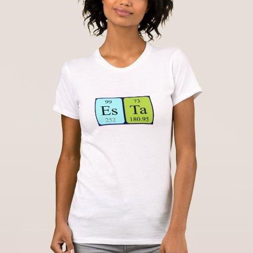 Camisa del nombre de la tabla periódica de Esta