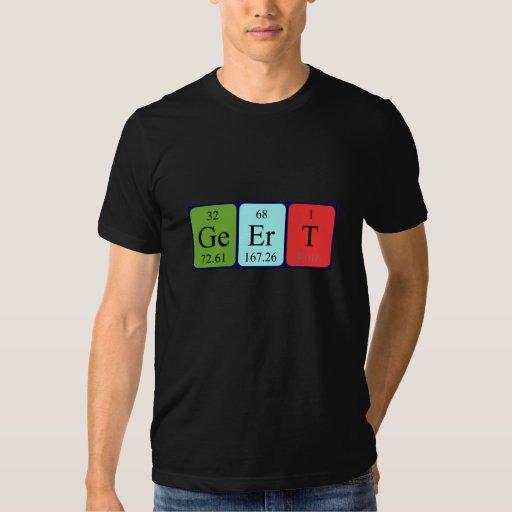Camisa del nombre de la tabla periódica de Geert