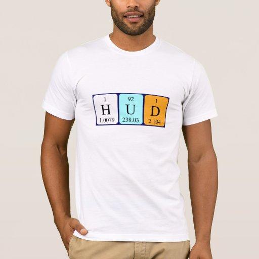 Camisa del nombre de la tabla periódica de Hud