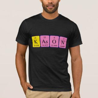 Camisa del nombre de la tabla periódica de Kason
