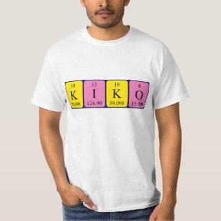 Camisa del nombre de la tabla periódica de Kiko