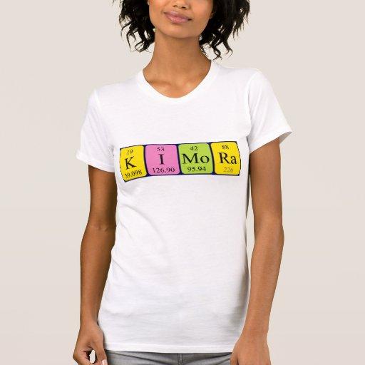 Camisa del nombre de la tabla periódica de Kimora