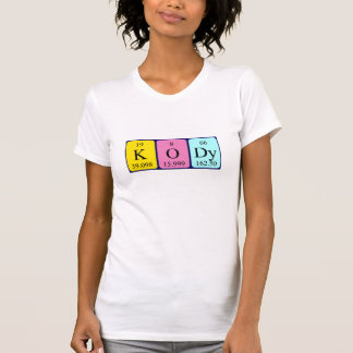 Camisa del nombre de la tabla periódica de Kody