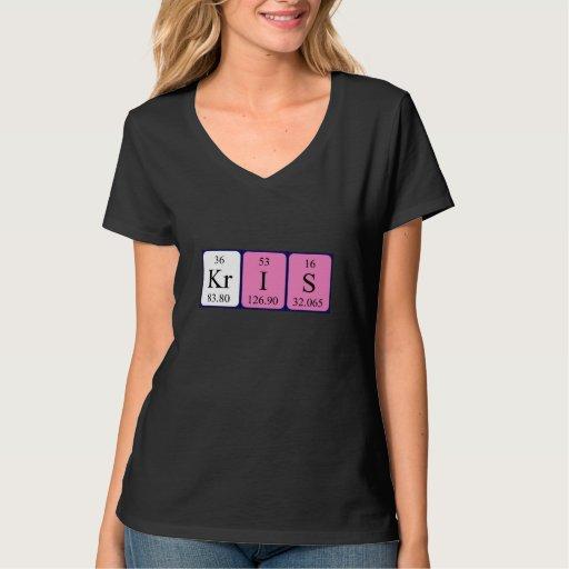 Camisa del nombre de la tabla periódica de Kris