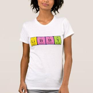 Camisa del nombre de la tabla periódica de Libby