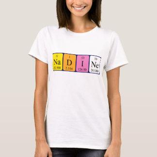 Camisa del nombre de la tabla periódica de Nadine