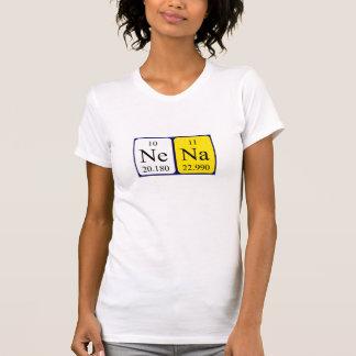 Camisa del nombre de la tabla periódica de Nena