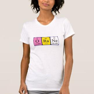 Camisa del nombre de la tabla periódica de Orane