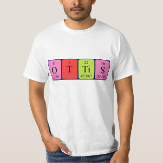 Camisa del nombre de la tabla periódica de Ottis