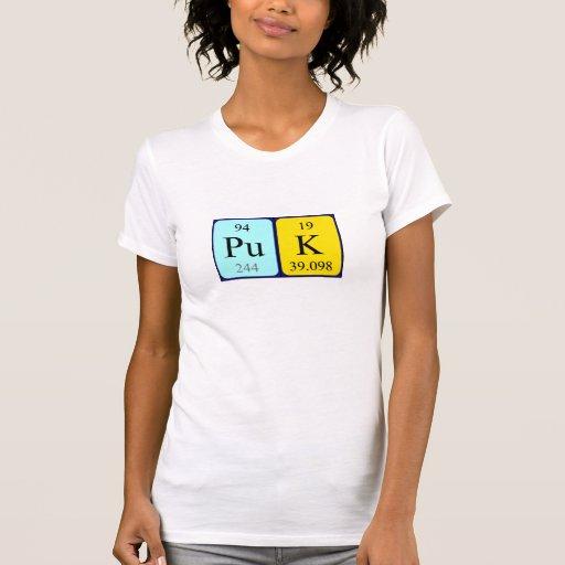 Camisa del nombre de la tabla periódica de Puk