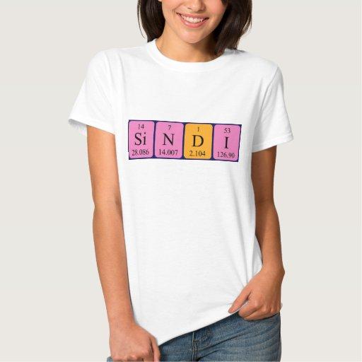 Camisa del nombre de la tabla periódica de Sindi