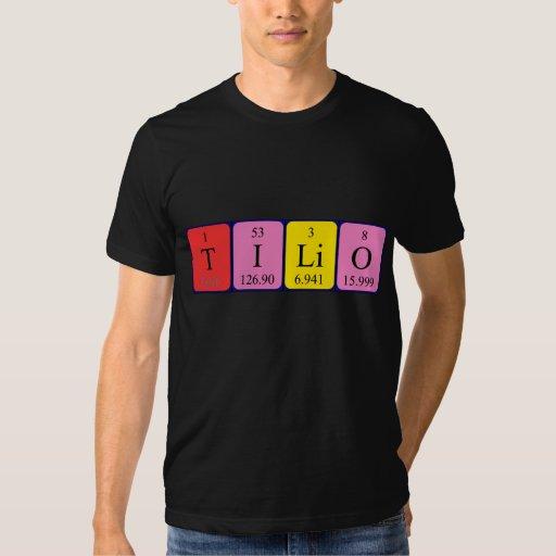 Camisa del nombre de la tabla periódica de Tilio