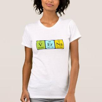 Camisa del nombre de la tabla periódica de Verna