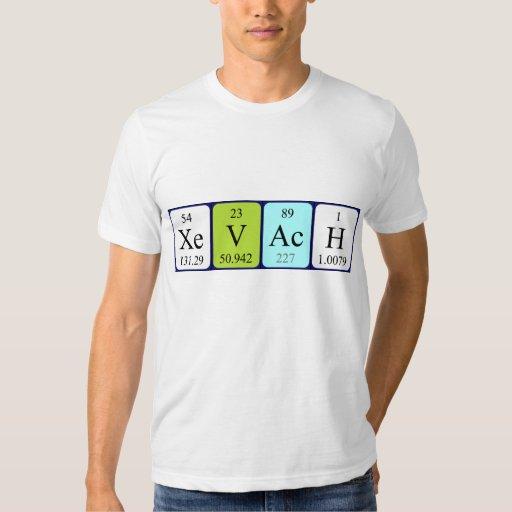 Camisa del nombre de la tabla periódica de Xevach
