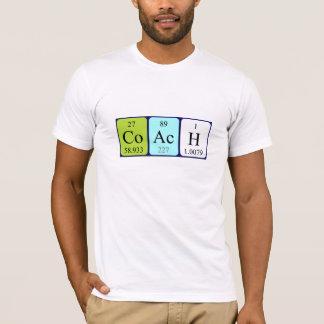 Camisa del nombre de la tabla periódica del coche