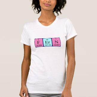 Camisa del nombre de la tabla periódica del helech