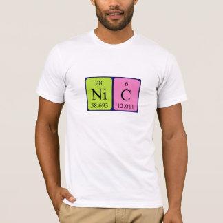 Camisa del nombre de la tabla periódica del NIC