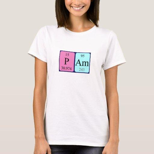 Camisa del nombre de la tabla periódica del PAM