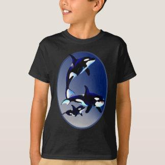 Camisa del óvalo de la familia de la orca