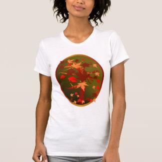Camisa del óvalo del árbol del otoño