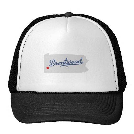 Camisa del PA de Brentwood Pennsylvania Gorras