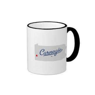 Camisa del PA de Carnegie Pennsylvania Tazas