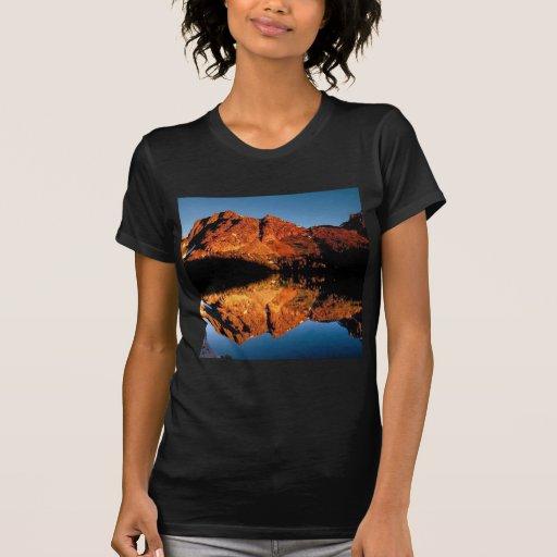 Camisa del paisaje del desierto de montaña