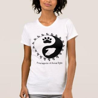 Camisa del partidario de los derechos de los anima