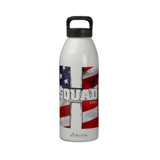Camisa del pelotón de H Botellas De Agua Reutilizables