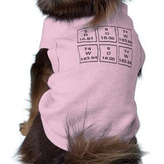 Camisa del perrito de los elementos químicos de BO Playera Sin Mangas Para Perro
