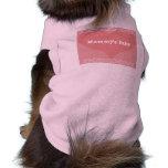 Camisa del perrito del bebé de la mamá camiseta de perrito
