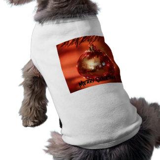 Camisa del perrito del bulbo del navidad playera sin mangas para perro