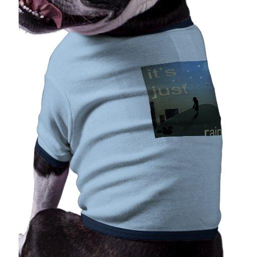 Camisa del perrito del día lluvioso camiseta con mangas para perro