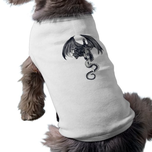 Camisa del perrito del dragón y de la espada ropa perro