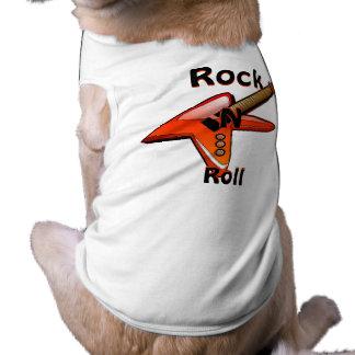 Camisa del perrito del rollo de la roca N Playera Sin Mangas Para Perro