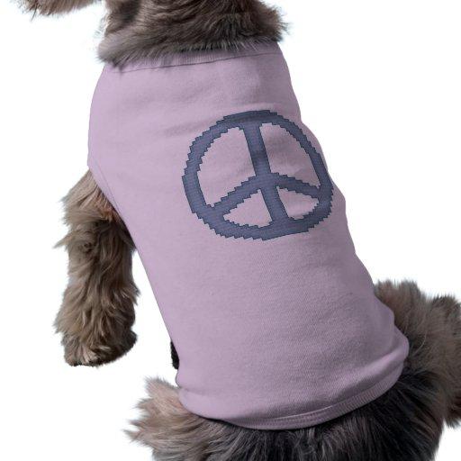 Camisa del perrito del signo de la paz camisetas de perrito