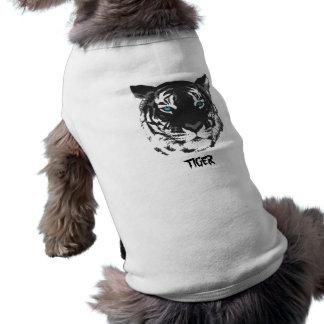 Camisa del perrito del tigre playera sin mangas para perro