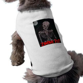 Camisa del perrito del zombi camisas de mascota