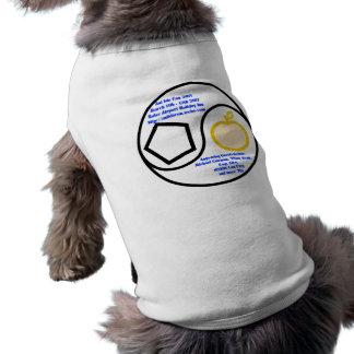 Camisa del perrito playera sin mangas para perro