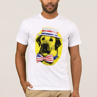 Camisa del perro amarillo