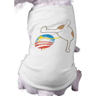 Camisa del perro de Anti-Obama Playera Sin Mangas Para Perro