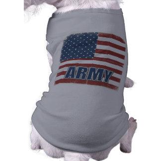 Camisa del perro de ejército camiseta de perro