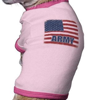 Camisa del perro de ejército ropa macota