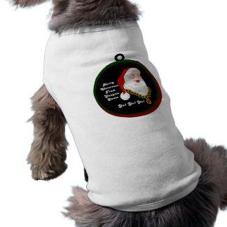 Camisa del perro de Gangsta Santa Ropa Macota