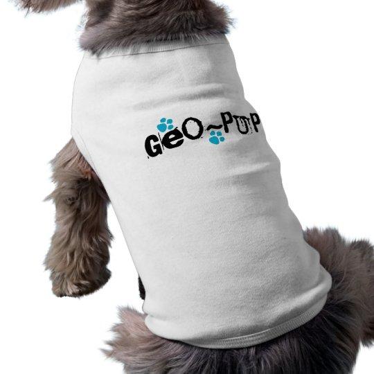 Camisa del perro de Geocaching del Geo-Perrito Playera Sin Mangas Para Perro