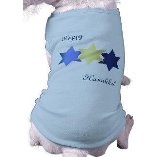 Camisa del perro de Jánuca Playera Sin Mangas Para Perro
